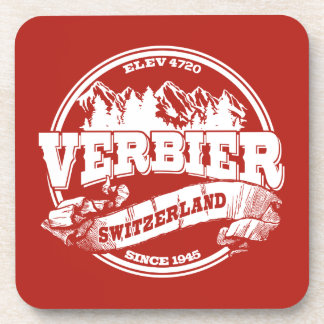 Verbier Old Circle Red Coaster