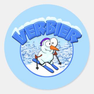 Verbier Snowman Classic Round Sticker