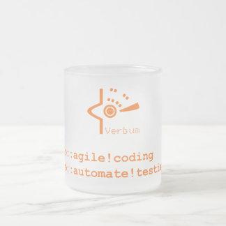 Verbum Froted Mug ( Orange Logo )