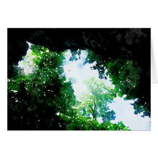Verdant Foliage Blank Card