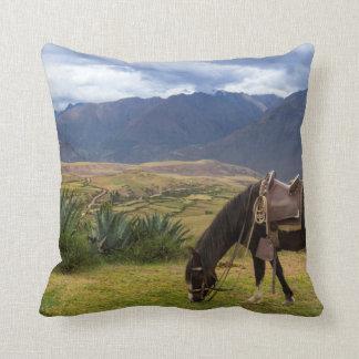 Verdant Sacred Valley Horse II Throw Pillow