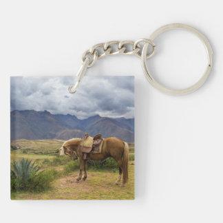 Verdant Sacred Valley Horse Keychain