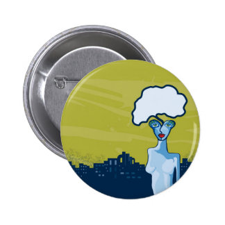 verdant thought 2 inch round button