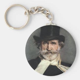verdi basic round button keychain