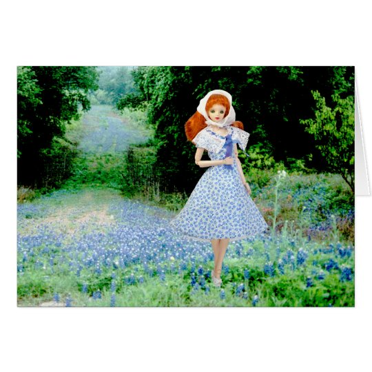 Verdi, Bluebonnets in the Texas Hill Country Card