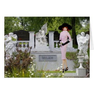 Verdi - Pink Attire,  Angels in Glenwood Cemetary Card
