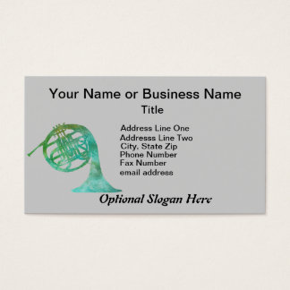 Verdigris French Horn Business Card