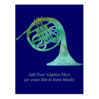Verdigris French Horn Postcard