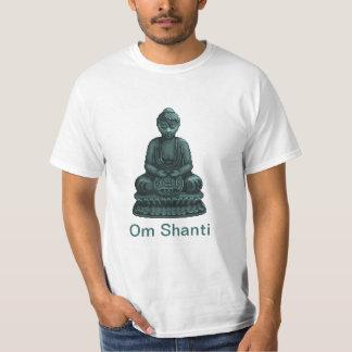 Verdigris Green Buddha Pixel Art T-Shirt