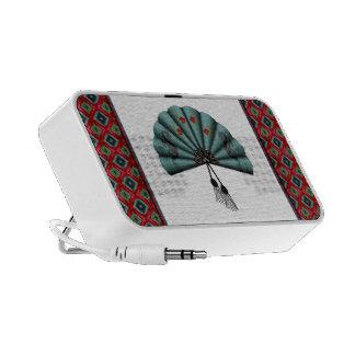 Verdigris Green Dragon Fan Pixel Art Notebook Speaker