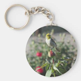Verdin on Rosebud Keychain