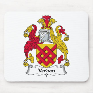 Verdon Family Crest Mouse Pad