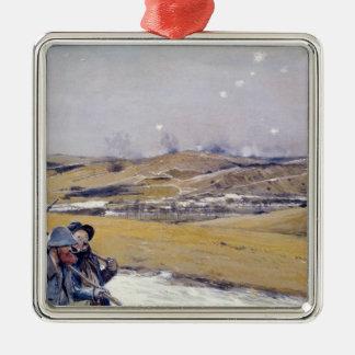 Verdun, 1916 Silver-Colored square ornament