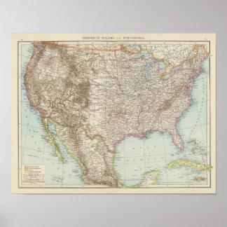 Vereinigte Staaten von Nordamerika - USA Map Poster