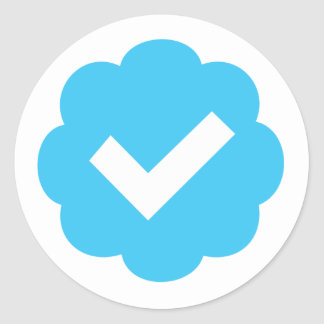 Verified Account Symbol Classic Round Sticker