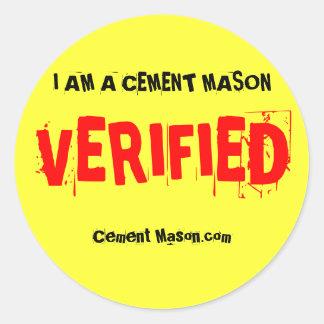 Verified stickers