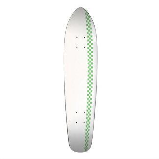 Vérifiez le vert/blanc de plate-forme skateboard old school  21,6 cm