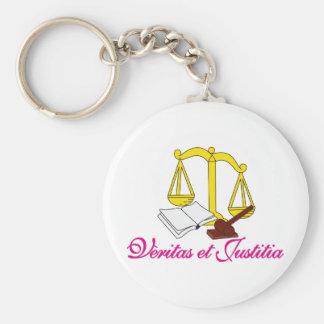 Veritas et Justitia Keychain