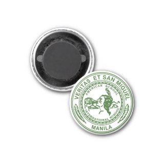 Veritas et San Miguel Round Magnet