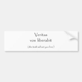 Veritas vos liberabit-bumper sticker bumper sticker