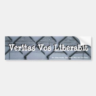Veritas Vos Liberabit (fenced) Bumper Sticker