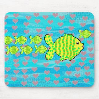 Verliebte Fische Mousepad