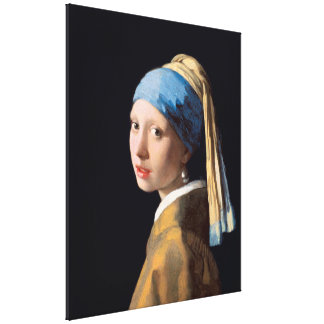 VERMEER - Girl with a pearl earring 1665 Canvas Print