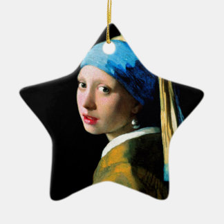 Vermeer - Girl with a Pearl Earring Ceramic Ornament