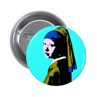 Vermeer' Pearl Earring  ala 2 Inch Round Button
