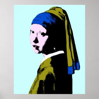 Vermeer' Pearl Earring  ala Poster