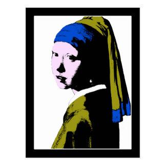 Vermeer s Pearl Earring ala Warhol Postcards