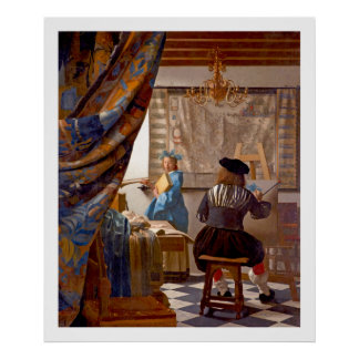 Vermeer - The Art of Painting - Vintage Art Poster