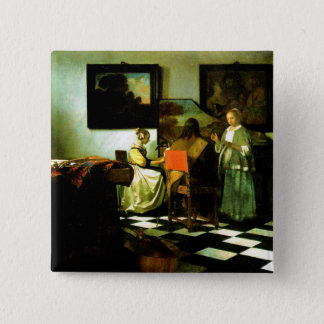 Vermeer: The Concert artwork 2 Inch Square Button