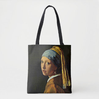 Vermeer - The Girl with a Pearl Earring Tote Bag