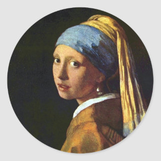 Vermeer: The Girl with Pearl Earring art sticker