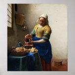 Vermeer The Milkmaid Poster