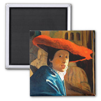 VERMEER'S GIRL WITH THE RED HAT/ OLD MASTERS MAGNET