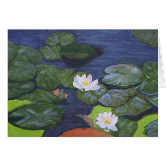"""""""Vermeer's Waterlilies"""" Card"""
