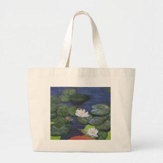 """""""Vermeer's Waterlilies"""" Large Tote Bag"""