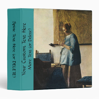 Vermeer's Woman in Blue Reading a Letter ca.1665 3 Ring Binders