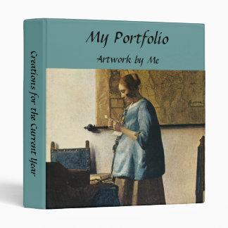 Vermeer's Woman in Blue Reading a Letter ca.1665 Binders