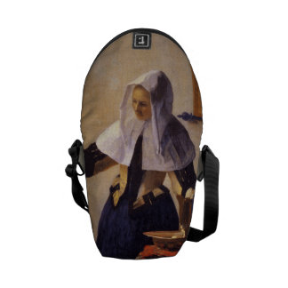 Vermeer's Woman with Water Pitcher Courier Bag