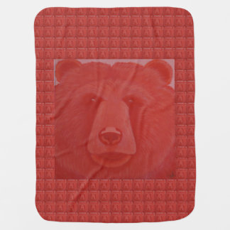 Vermillion Bear Baby Blanket