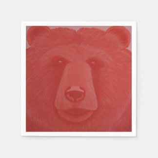 Vermillion Bear Napkins Disposable Napkins