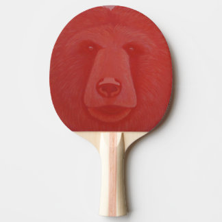 Vermillion Bear Ping Pong Paddle