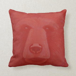 Vermillion Bear Throw Pillow
