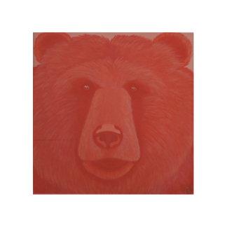 Vermillion Bear Wood Wall Panel