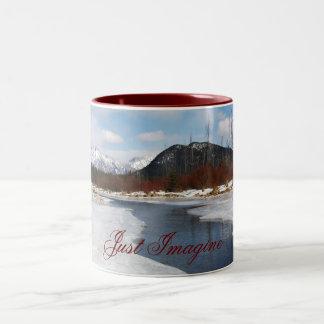 Vermillion Lakes, Just Imagine Two-Tone Coffee Mug