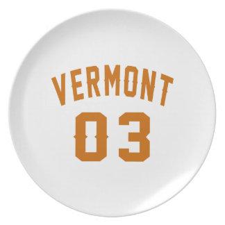 Vermont 03 Birthday Designs Plate