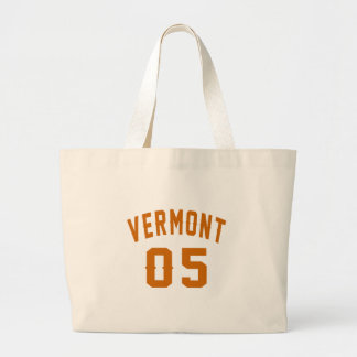 Vermont 05 Birthday Designs Large Tote Bag